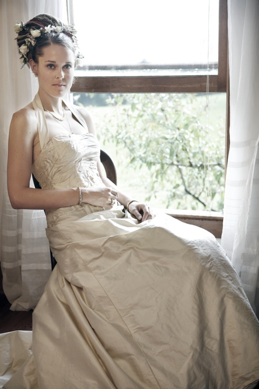 Raw Silk Gown Jessica Hinel Designs